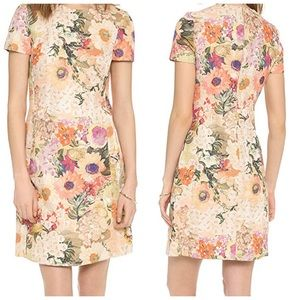 Tory Burch Kaley Pastel Floral Shift Dress Size 10